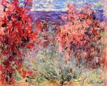 """Картина """"цветущие деревья у берега"""" художника """"моне клод"""""""