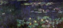 """Репродукция картины """"водяные лилии, зеленое отражение (правая половина)"""" художника """"моне клод"""""""