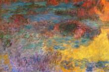 """Картина """"Пруд с водяными лилиями, вечер (левая половина)"""" художника """"Моне Клод"""""""