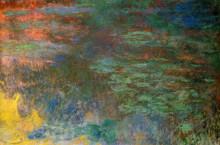 """Копия картины """"Пруд с водяными лилиями, вечер (правая половина)"""" художника """"Моне Клод"""""""