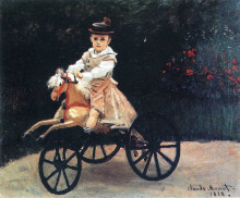 "Копия картины ""Жан Моне на лошадке"" художника ""Моне Клод"""
