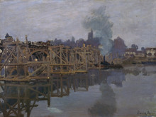"Картина ""Мост на реконструкции"" художника ""Моне Клод"""