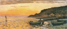 """Копия картины """"морское побережье в сент-адрес, закат"""" художника """"моне клод"""""""