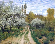 """Картина """"деревья в цвету"""" художника """"моне клод"""""""