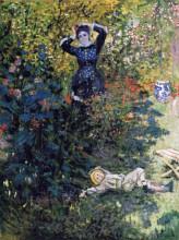 "Картина ""камилла и жан моне в саду в аржантёе"" художника ""моне клод"""