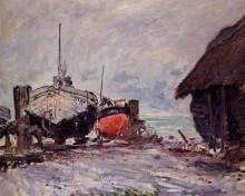 """Картина """"рыбацкие лодки в этрета"""" художника """"моне клод"""""""