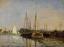 """Картина """"прогулочные лодки, аржантёй"""" художника """"моне клод"""""""