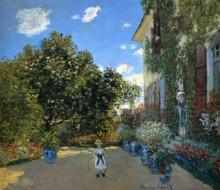 """Картина """"дом художника в аржантёе"""" художника """"моне клод"""""""