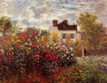 """Картина """"сад моне в аржантёе. солнце"""" художника """"моне клод"""""""