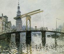 """Картина """"Мост, Амстердам"""" художника """"Моне Клод"""""""