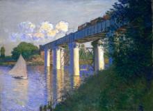 """Копия картины """"железнодорожный мост в аржантёе"""" художника """"моне клод"""""""