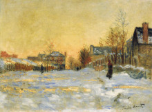 """Картина """"снежный эффект, улица в аржантёе"""" художника """"моне клод"""""""