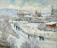 "Картина ""Вид Аржантёя в снегу"" художника ""Моне Клод"""