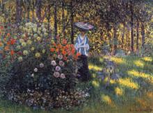 """Репродукция картины """"женщина с зонтиком в саду аржантёя"""" художника """"моне клод"""""""