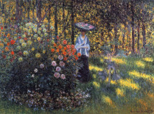 """Картина """"Женщина с зонтиком в саду Аржантёя"""" художника """"Моне Клод"""""""