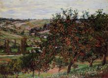 """Репродукция картины """"яблони близ ветёя"""" художника """"моне клод"""""""