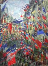 "Копия картины ""рю монтаргей с флагами"" художника ""моне клод"""
