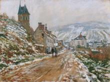 "Картина ""дорога в ветёе зимой"" художника ""моне клод"""