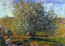 """Репродукция картины """"дерево в цвету близ ветёя"""" художника """"моне клод"""""""