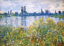 """Картина """"Цветы на берегах Сены близ Ветёя"""" художника """"Моне Клод"""""""
