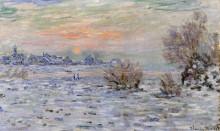 """Картина """"зима на сене, лавакур"""" художника """"моне клод"""""""