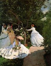 """Картина """"Женщины в саду"""" художника """"Моне Клод"""""""