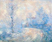 """Копия картины """"въезд в живерни в снегу"""" художника """"моне клод"""""""