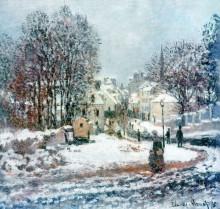 """Картина """"Большая дорога, ведущая в Аржантёй. Зима"""" художника """"Моне Клод"""""""