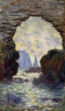 """Репродукция картины """"скала игла, вид сквозь порт д'амон"""" художника """"моне клод"""""""