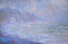 """Картина """"скалы в пурвиле, дождь"""" художника """"моне клод"""""""