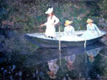"""Картина """"В норвежской лодке. Живерни"""" художника """"Моне Клод"""""""