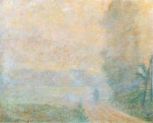 "Репродукция картины ""тропинка в тумане"" художника ""моне клод"""