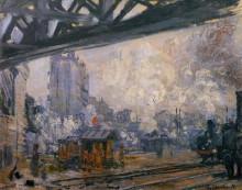 """Копия картины """"вокзал сен-лазар, вид снаружи"""" художника """"моне клод"""""""