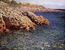 """Репродукция картины """"скалы на средиземноморском побережье"""" художника """"моне клод"""""""