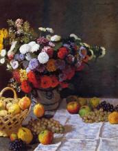 """Репродукция картины """"цветы и фрукты """" художника """"моне клод"""""""