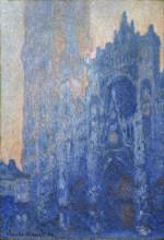 """Репродукция картины """"Руанский собор, главный вход и Тур д'Альбан на рассвете"""" художника """"Моне Клод"""""""