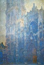 """Копия картины """"Руанский собор, главный вход и Тур д'Альбан, утренний эффект"""" художника """"Моне Клод"""""""