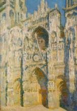 """Репродукция картины """"руанский собор, главный вход и тур д'альбан насолнце"""" художника """"моне клод"""""""