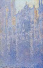 "Картина ""руанский собор, главный вход, утренний туман"" художника ""моне клод"""