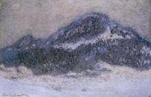 """Репродукция картины """"Гора Колсаас в туманную погоду"""" художника """"Моне Клод"""""""