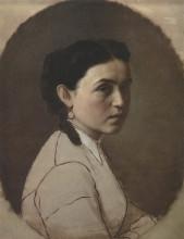 """Картина """"портрет е.э.перовой"""" художника """"перов василий"""""""