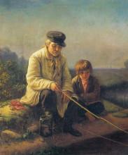 """Репродукция картины """"рыбная ловля"""" художника """"перов василий"""""""