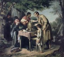 """Репродукция картины """"чаепитие в мытищах, близ москвы"""" художника """"перов василий"""""""