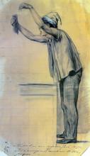 """Репродукция картины """"Мальчик с поднятыми руками, обращающийся к публике"""" художника """"Перов Василий"""""""