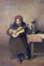 """Картина """"гитарист-бобыль"""" художника """"перов василий"""""""