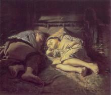 """Копия картины """"спящие дети"""" художника """"перов василий"""""""