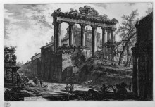"Репродукция картины ""view of the temple of concord"" художника ""пиранези джованни баттиста"""