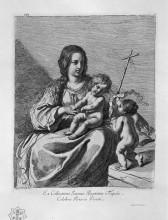 """Копия картины """"the madonna with child and st. john the baptist"""" художника """"пиранези джованни баттиста"""""""