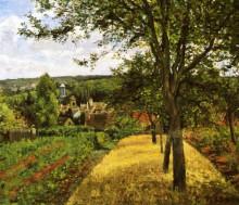 """Картина """"orchards at louveciennes"""" художника """"писсарро камиль"""""""