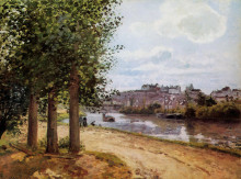 "Копия картины ""pontoise banks of the oise"" художника ""писсарро камиль"""